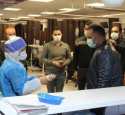 دیدار مدیر عامل و عوامل انبوه سازان هوتن با پرستاران